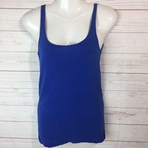 Eileen Fisher organic cotton tank top blue XS